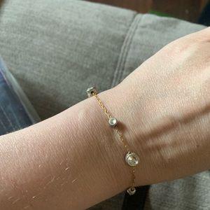 Napier vintage rhinestone goldtone bracelet